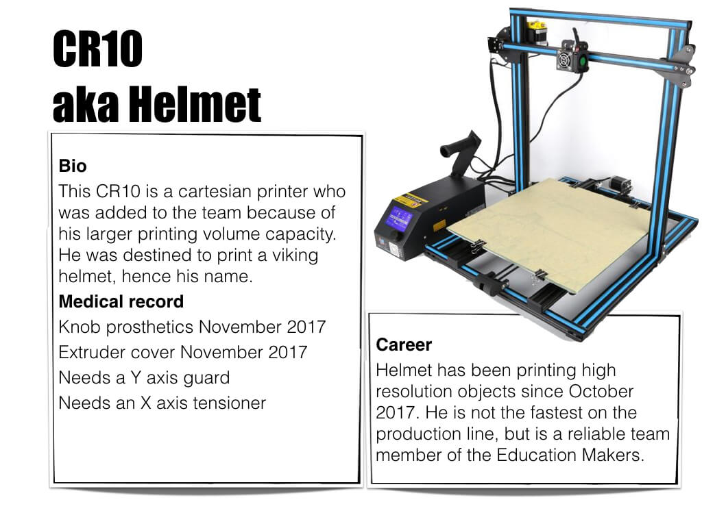 3D printer CR10 aka Helmet - Bio